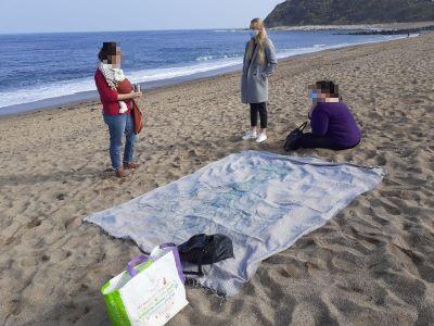 collation à la plage